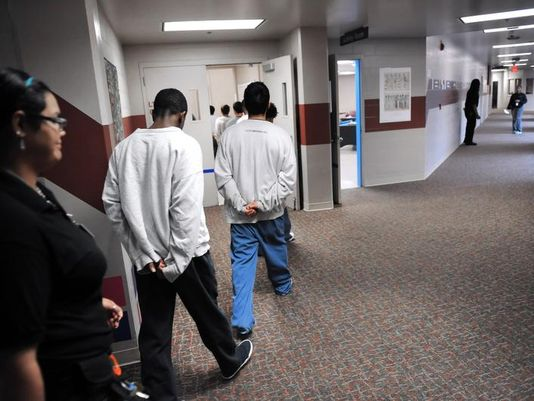 one program in a juvenile halfway house detention center or juvenile prison Chapter 13 juvenile justice  center or house in which juveniles are helped to readjust to the outside world after incarceration group homes and halfway houses.