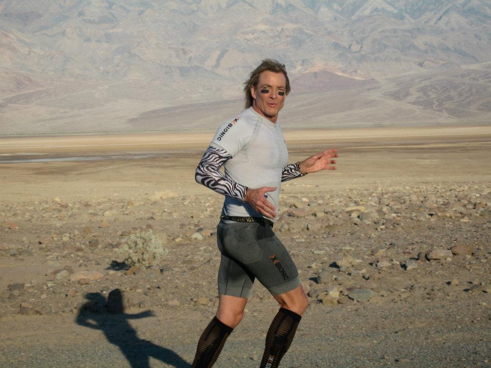 Frank running in Death Valley